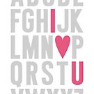 ABC I Love You Pink by MissTiina