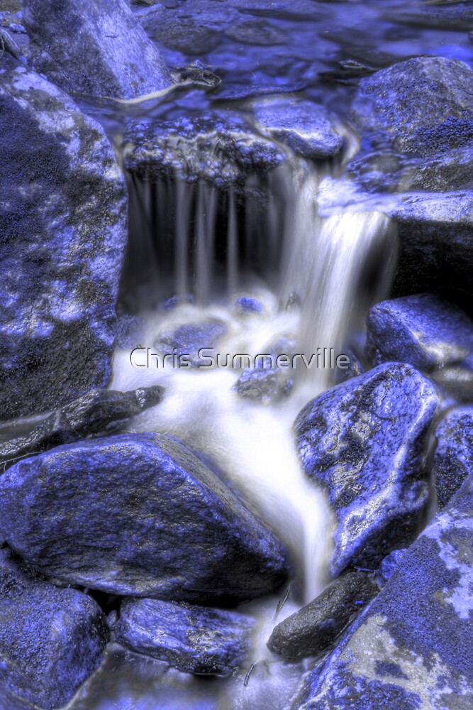 Flowing - Blue by Chris Summerville