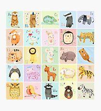 German Animal Alphabet Photographic Print