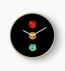 Traffic lights red amber green Clock