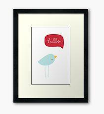 Hello Birdie Framed Print