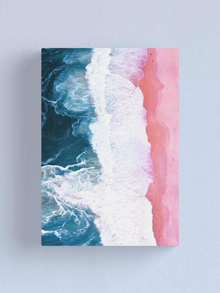 Alternate view of Aerial Beach, Ocean Waves Canvas Print