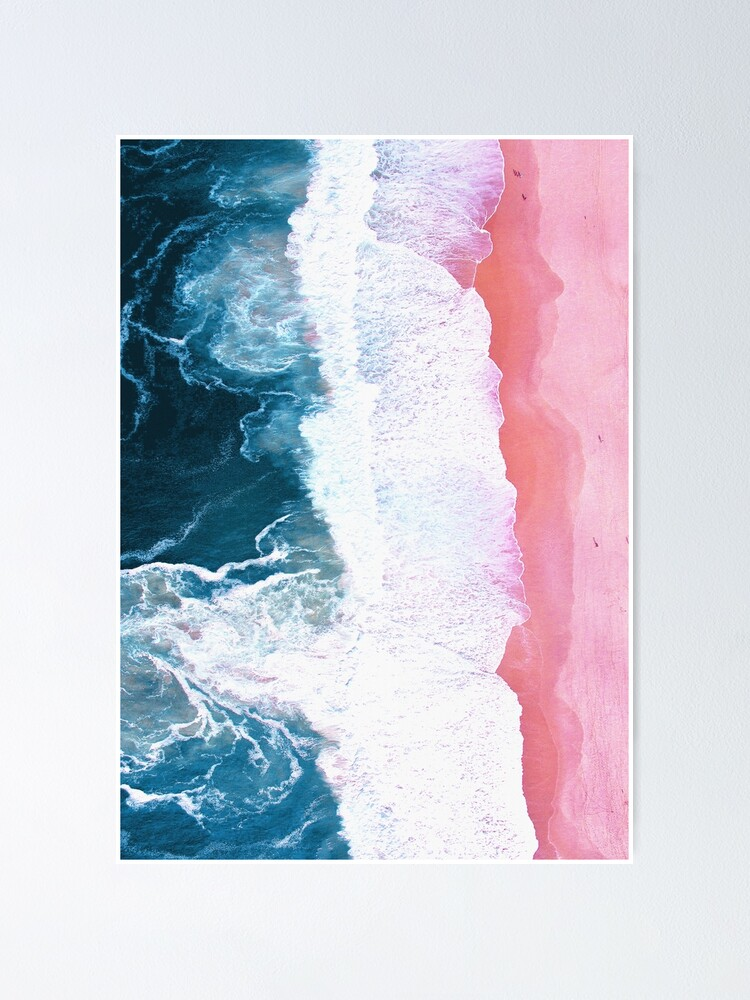 Alternate view of Aerial Beach, Ocean Waves Poster