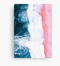Aerial Beach, Ocean Waves Metal Print