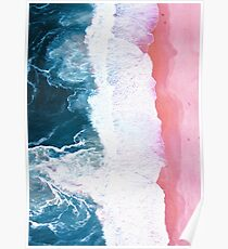 Aerial Beach, Ocean Waves Poster