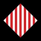 Red & White Warning Stripes by Rupert Russell