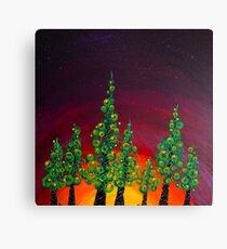 Tree Line at Gloaming Canvas Print