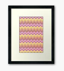 Rainbow Chevron #1 Framed Print