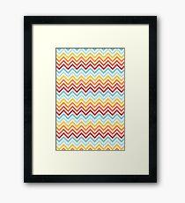 Rainbow Chevron #2 Framed Print