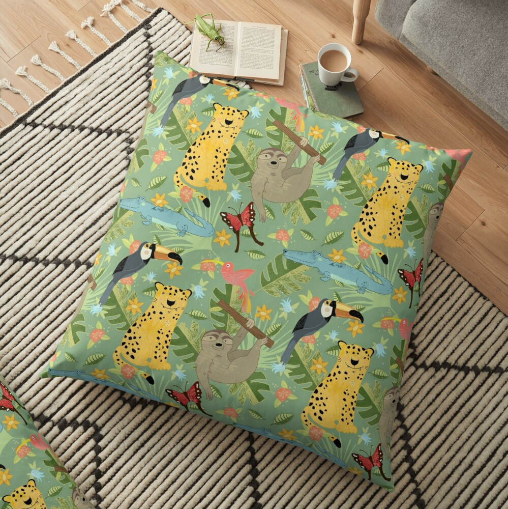 Jungle Adventure Floor Pillow