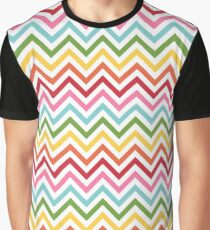 Rainbow Chevron #3 Graphic T-Shirt