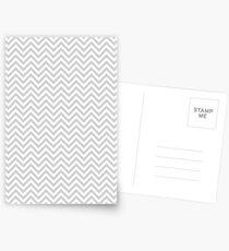 Grey Chevron Postcards