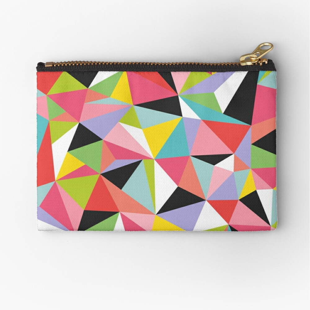 Geo Jane Zipper Pouch