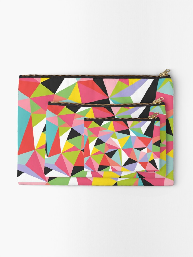 Alternate view of Geo Jane Zipper Pouch