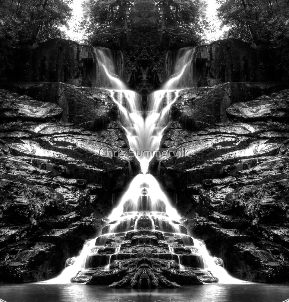 Eastatoe Falls Mirrored by Chris Summerville