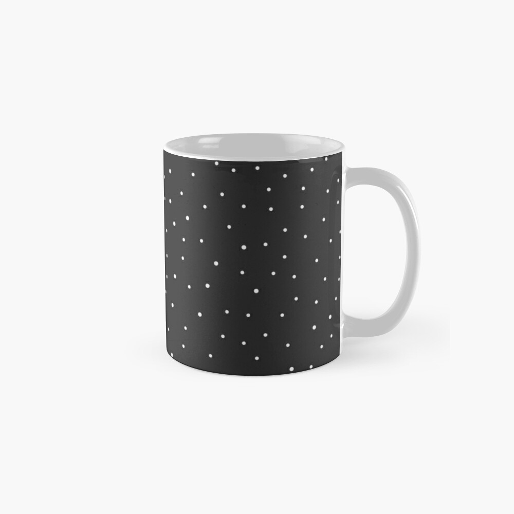 Random Dots on Black Mug