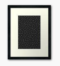 Random Dots on Black Framed Print