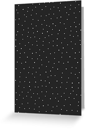 Random Dots on Black by MissTiina