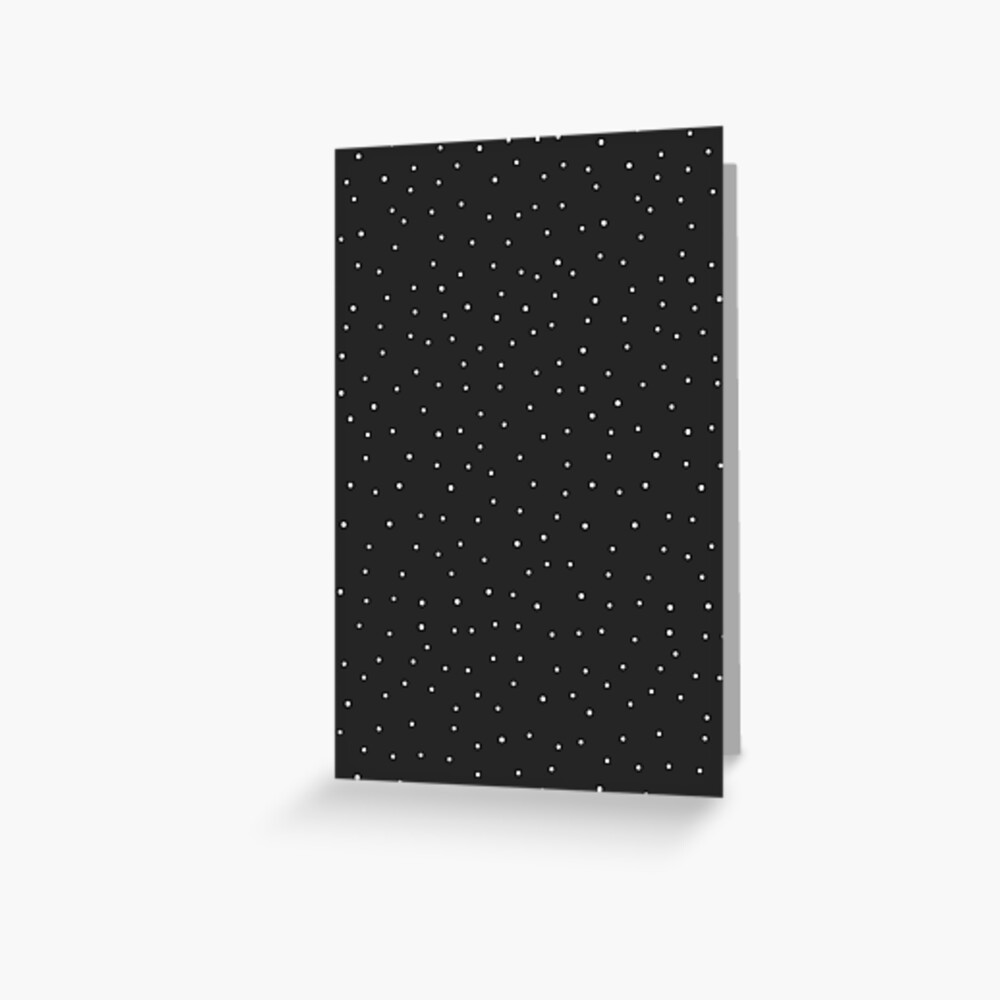 Random Dots on Black Greeting Card