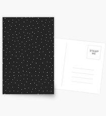 Random Dots on Black Postcards