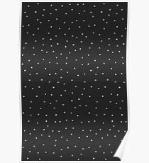 Random Dots on Black Poster
