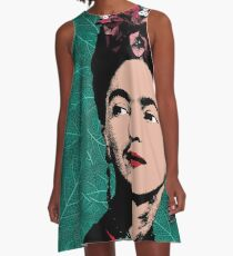 Frida Kahlo Portrait A-Line Dress