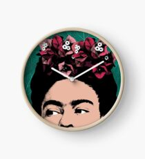 Frida Kahlo Portrait Clock