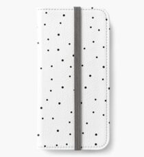 Random Dots on White iPhone Wallet/Case/Skin
