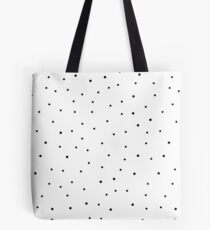 Random Dots on White Tote Bag