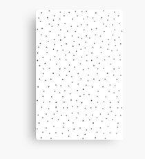 Random Dots on White Metal Print