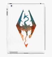 Skyrim Logo  -  Blue & Orange Galaxy iPad Case/Skin