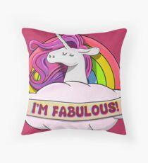 Fabulous Unicorn II Throw Pillow