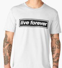 Live Forever - OASIS Band Tribute Men's Premium T-Shirt