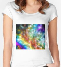 Psychedelic Storm Women's Fitted Scoop T-Shirt