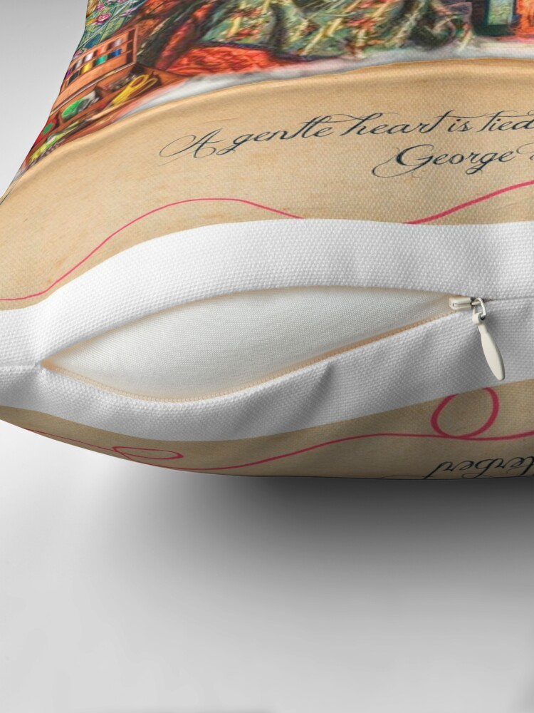 Alternate view of A Stitch In Time November Throw Pillow