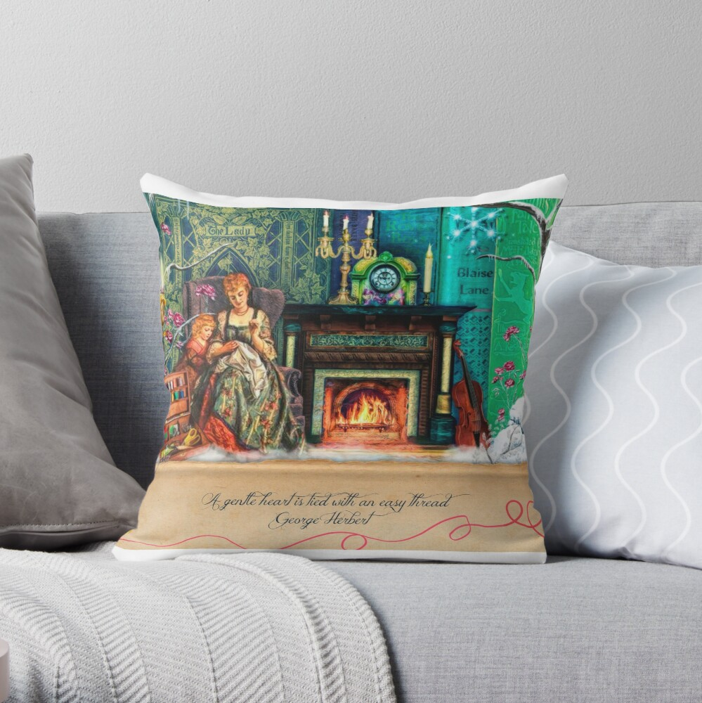 A Stitch In Time November Throw Pillow