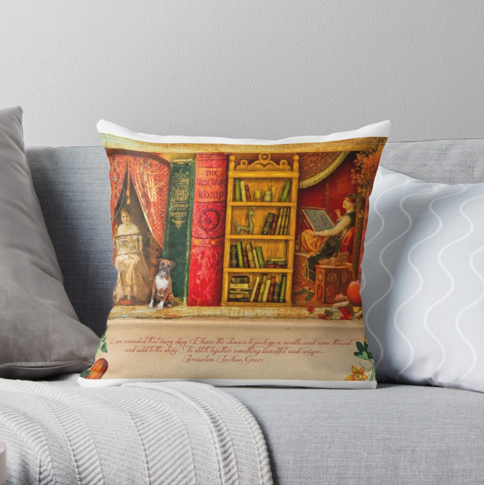 A Stitch In Time October Throw Pillow