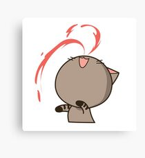 Nose bleed cat Canvas Print