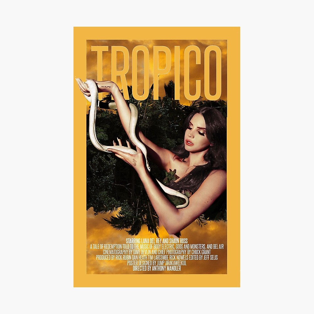 Lana Del Rey TROPICO SINGLE edit Lámina fotográfica