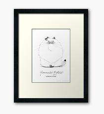 #meowdernart - Furrnando Botero Framed Print
