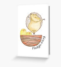 A Hog's Life - Fledge-Hog Greeting Card