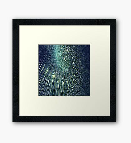 Fractal rain Framed Print