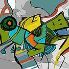 fish abstract by Berker Sirman