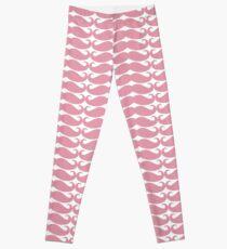 Pink Mustache Leggings