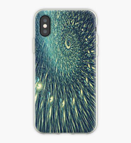 Fractal rain iPhone Case
