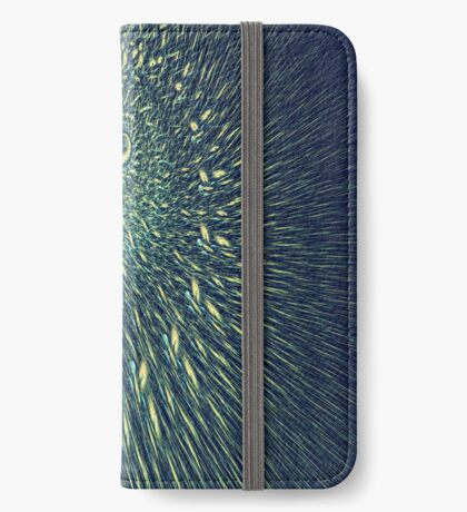 Fractal rain iPhone Wallet