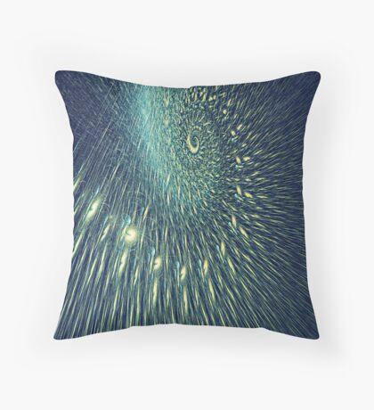 Fractal rain Throw Pillow