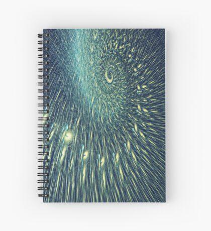 Fractal rain Spiral Notebook