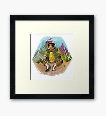Paladin Terrarium - Yellow Framed Print