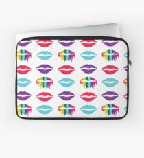 Stacked Colorful Lips Laptop Sleeve